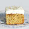 Möhrenkuchen ohne Mehl mit Quark-Zitronen-Frosting