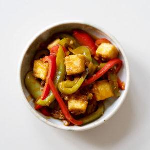 Chili-Tofu mit Paprika