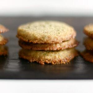 Sencha Cookies mit Mandeln, Zitrone und Grünem Tee