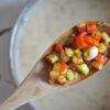 Weiße-Bohnen-Suppe mit geröstetem Gemüse