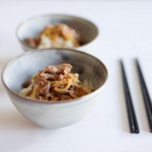 Teriyaki Gyūdon - japanische Reisschale mit Rindfleisch