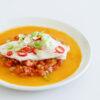 Ganzer Saibling aus dem Ofen mit Tomaten-Ingwer-Sauce