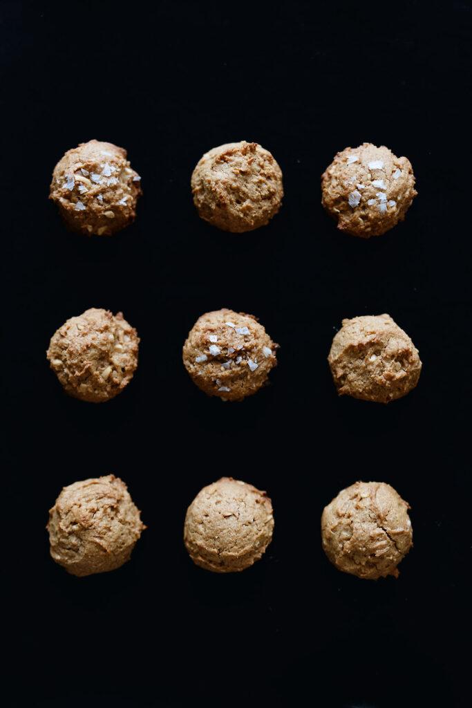 Gesalzene Ernussbutter-Kekse - Salted Peanut Butter Cookies