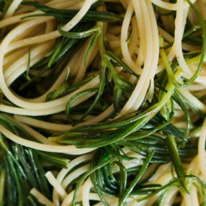 Nudeln mit Mönchsbart - Spaghetti con agretti