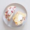 Rhabarber-Mandel-Muffins mit Quarkfüllung