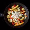 Schupfnudeln mit Paprika, Zucchini, Feta und Thymian