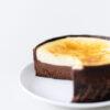 Karamellisierter Käsekuchen mit Schokolade und Vanille