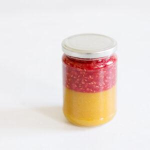 Himbeer-Mango-Vanille-Konfitüre