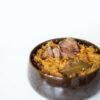 Geschmortes Rindfleisch mit Möhren, Knollensellerie und Zwiebeln