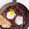 Pochierte Eier in Rotweinsauce - Oeufs en meurette